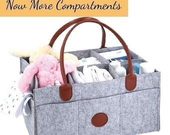 Nursery Storage Bins_ Multipurpose bag, Extra large and resistant leather sleeves