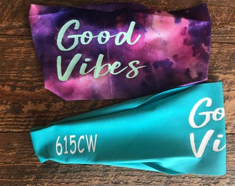 Good Vibes Fitness Headband- Free Shipping in US!
