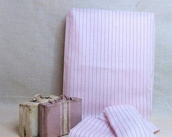 Shabby Chic Handmade Miniature Dollhouse Sheet Set for 1:12th Scale Double/Queen - Pink and White Stripe