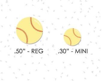"Softball Stickers |  2 Sizes | .30"" & .50"" | Softball Camp, Softball Practice, Softball Game, Softball Tournament | CA03 - CA05"