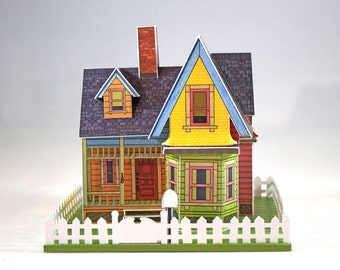 "Make your own miniature house inspired by the movie ""UP"""