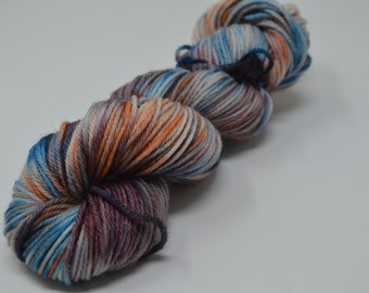 Aubs Worsted, hand dyed yarn, handdyed yarn, hand dyed worsted yarn, hand painted yarn, worsted yarn, worsted weight, Pirate Ship