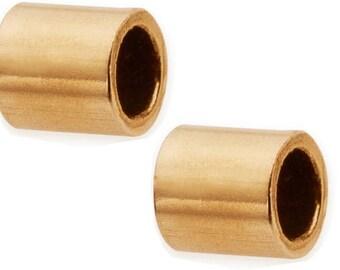 20 Pcs 2X2mm 14K Gold Filled Crimp Beads, 14K Gold Filled Findings wholesale, Gold Crimp Beads - GB859