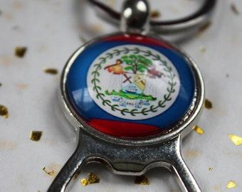 Belize Flag Bottle opener
