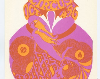 Retinal Circus Handbill Vancouver Canada 1968 Oct 4 Mother Tickers Mock Duck