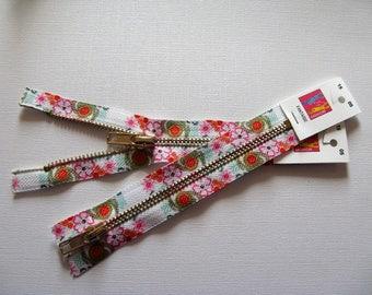 Zipper zip 15cm metal no fancy detachable floral - ref 15 has