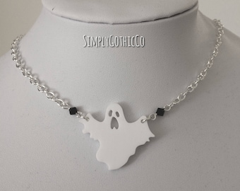 Gothic Haunting Ghost Necklace