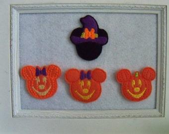 Mouse Halloween Felties Miss Mouse, Mr, Mouse Feltie, Your Choice Always Precut