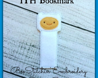 Finn ITH Bookmark - 4x4 5x7 Embroidery Design - INSTANT DOWNLOAD