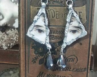 Lover's eye soldered earrings.