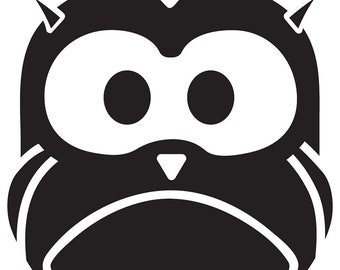 Woodland Owl Vinyl Wall Decal size XX-LARGE