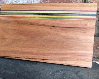 Recycled Skateboard and Hardwood Cutting Board