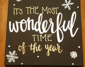 12x12 Wonderful Time of the Year Canvas