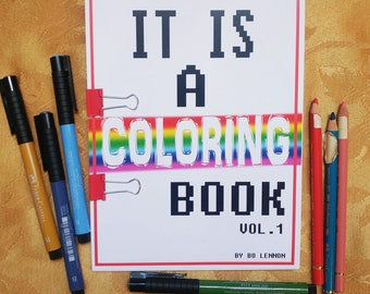 It Is A Coloring Book, Adult Coloring Book, Art