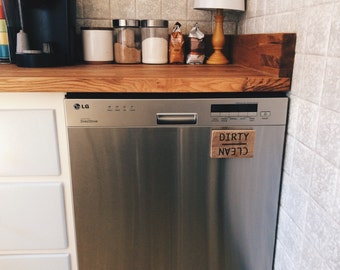 Clean Dirty Dishwasher Magnet- Wood Rustic    Kitchen decor