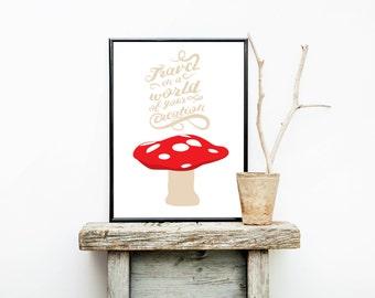 Nursery Decor - Teacher Gift - Classroom Decoration - Nursery Art - Travel Poster - Back to School - New Mom Gift - Classroom Posters