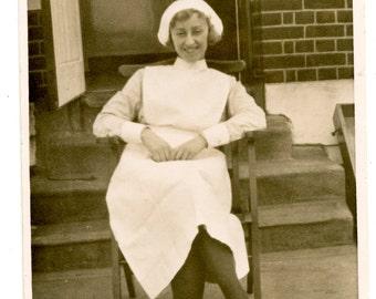 1940s Named Nurse Real Photo Postcard Antique RPPC Vintage Edwardian Occupational Manchester