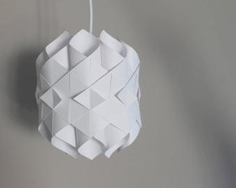 Origami lampshade etsy origami lampshade white origami lamp aloadofball Images