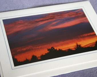 Virginia Sunset Photo Frame Card Textured Cardstock