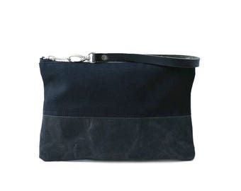 Black Clutch Purse, Wristlet