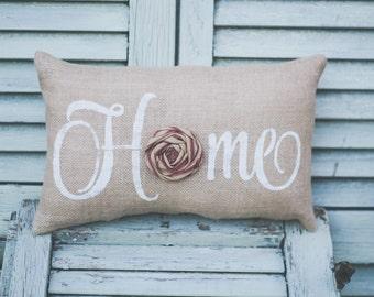 Home Decorative Pillow Decor Pillow Home Pillow Burlap pillow fabric pillow farmhouse style 15x10 accent pillow