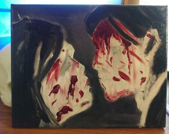 My Chemical Romance Three Cheers For Sweet Revenge oil painting on 8x10 canvas