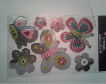 Mildly thick foil butterfly embellishments