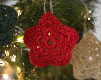 Star Ornament Set, Crochet Star