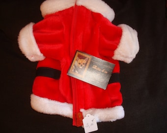 Santa coat with sleeves for dog or cat