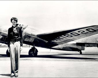 Poster, Many Sizes Available; Amelia Earhart With Her Lockheed Electra July 1937