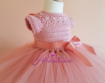 crochet tutu dress pattern, tutu dress pattern, crochet yoke dress pattern (sizes 6-9 months to 3 years old), baby crochet dress pattern