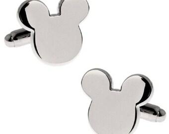 Mickey Mouse Cufflinks/ Mouse Bear Ears Cufflinks