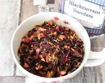 Blackcurrant Sundaes Tea - Black tea - Loose Leaf Tea - Tea - Tea Gift