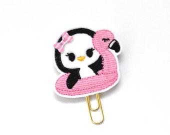 Pool Float Penguin Felt Planner Clip / Bookmark