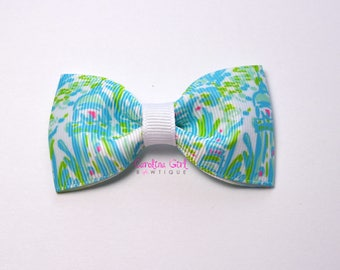 """High Beams ~ 3"""" Hair Bow Tuxedo Bow ~ Lilly Inspired ~ Simple Bow ~ Boutique Bow for Babies Toddlers ~ Girls Hair Bows"""
