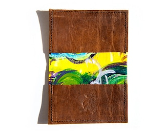 Hand Painted Recycled Wallet: Steamboat No. 13