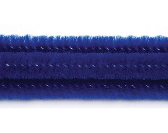 Chenille Stems - 6mm – Royal Blue - 12 inches - 100 pieces – 10166-40