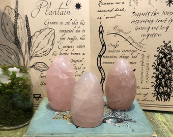 Rose Quartz Free Form/ Heart Chakra/ Crystal Healing / Healing Stone/ Ceremony Tool /Magic/ Altar