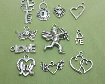 Valentine Charms, Love Charms, Valentine's Day Charm Collection (1-1289)