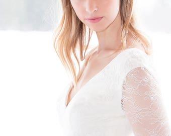 Wedding Halo - White Freshwater Pearl Wedding Headband - Bridal & Wedding Hair, Wedding Crown, Wedding Headpiece, Christmas Winter