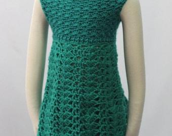 Teal Garden Dress Crochet Pattern *PDF DOWNLOAD ONLY* Instant Download