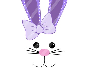 Easter Bunny Face Digital Download for iron-ons,heat transfers, T-Shirts, Onesies, Bibs, Towels, Aprons, DIY YOU PRINT
