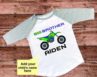 Big brother Custom Name Toddler Shirt Raglan Shirt Custom Shirt Personalized Shirt Sibling Shirt Toddler Clothing Baby Shower Gift