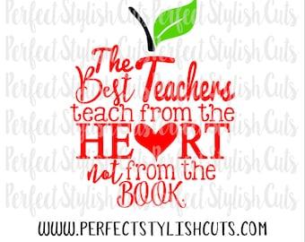 The Best Teachers SVG, DXF, EPS, png Files for Cutting Machines Cameo or Cricut - Teacher Appreciation Svg, Teacher Svg, Apple Svg, PreK Svg