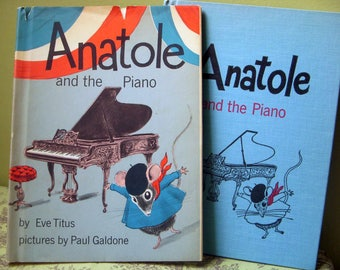 On Sale, Anatole and the Piano, Eve Titus, Paul Galdone Pix, Rare Signed by the Author, First Edition, Dust Jacket 1966, Mouse Story Paris
