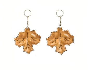 Fall Leaves....Shower Curtain Ring Charms/ Ornaments...Set of 12