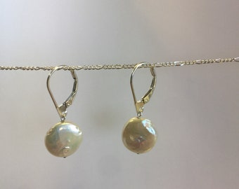 Freshwater Pearl and Silver earrings (Pearl Drops)