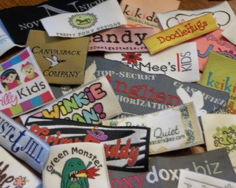 A USA Company - 200 WOVEN  Labels - Use Your Own Artwork - Up to 8 Colors - Sale, Normally 140.00