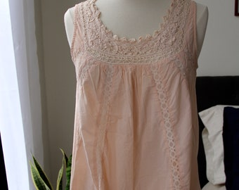 Soft Pink Sleeveless Blouse