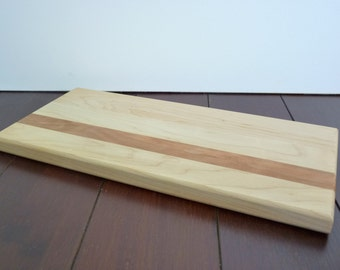 Solid Maple Cutting Board with Cherry Accent